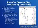 riverware colorado river simulation system crss