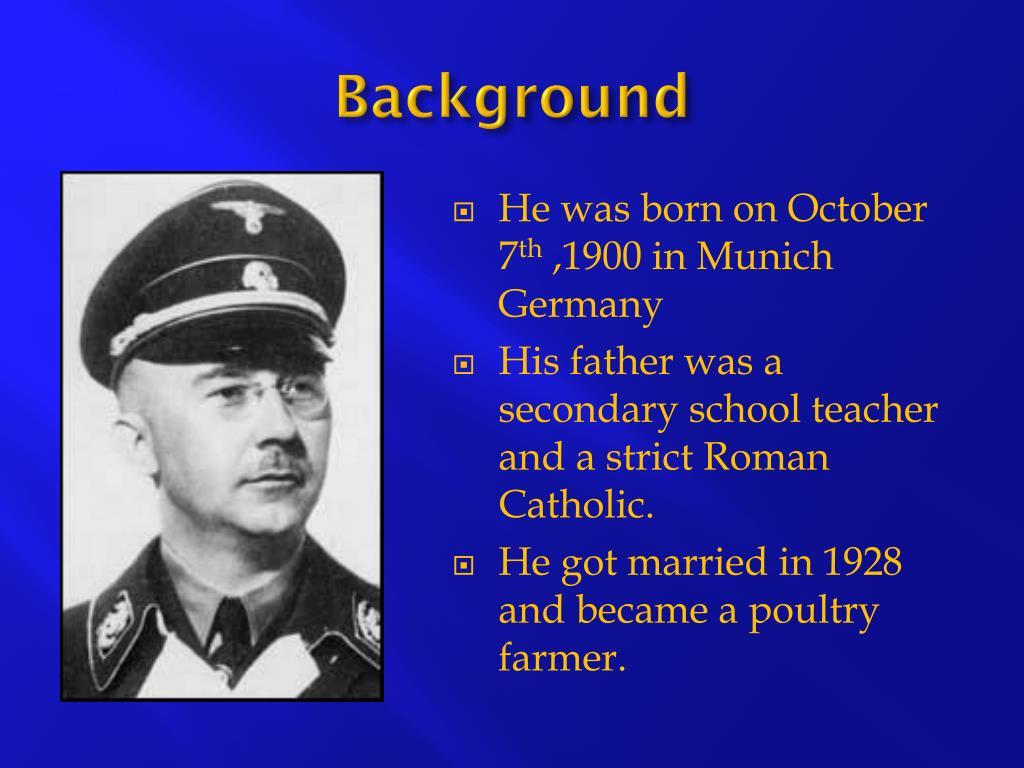 Heinrich himmler life story