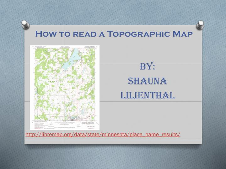 how to read a topographic map n.