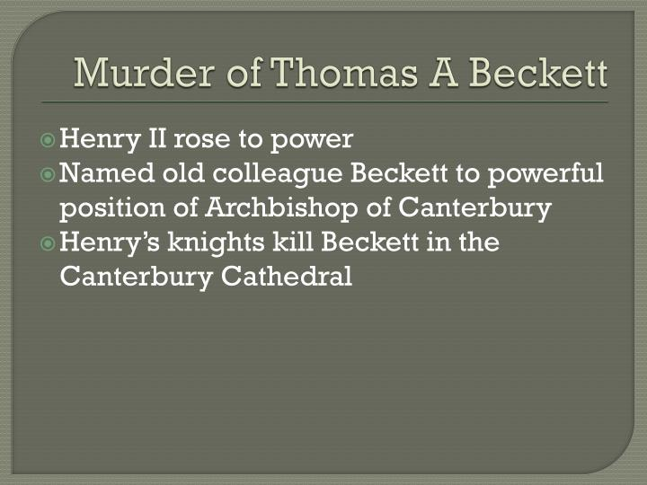 Murder of Thomas A Beckett