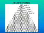 pascal s triangle