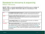 standards for microarray sequencing mage tab format