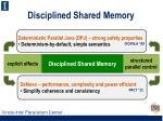 disciplined shared memory1