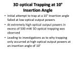 3d optical trapping at 10 insertion angle