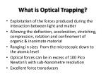 what is optical trapping