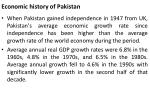 economic history of pakistan