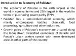 introduction to economy of pakistan