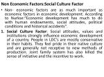non economic factors social culture factor