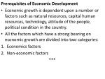 prerequisites of economic development