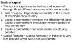 s tock of capital