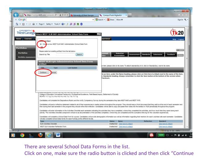 There are several School Data Forms in the list.
