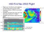 hs3 5 6 nov 2012 flight