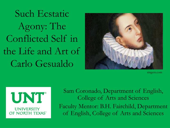 such ecstatic agony the conflicted self in the life and art of carlo gesualdo n.
