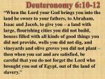 deuteronomy 6 10 12