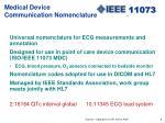 medical device communication nomenclature