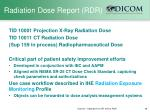 radiation dose report rdr