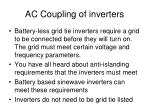 ac coupling of inverters