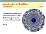introduction to the bible intro hybrid quiz35