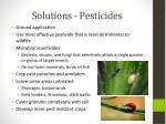 solutions pesticides
