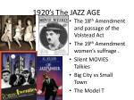 1920 s the jazz age