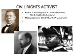 civil rights activist