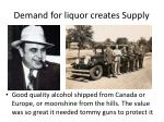 demand for liquor creates supply