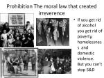 prohibition the moral law that created irreverence
