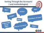 sorting through the acronyms and methodologies