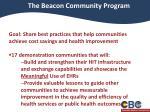 the beacon community program