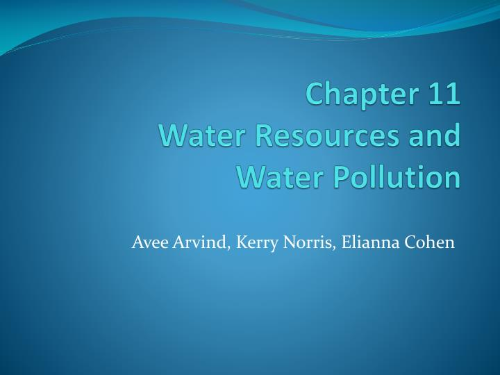 chapter 11 water resources and water pollution n.