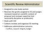 scientific review administrator