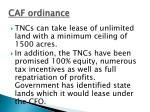 caf ordinance