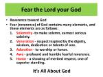 fear the lord your god