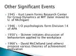 other significant events2