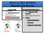march 11 2014 bell work magnetic field reversal
