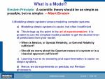 what is a model1