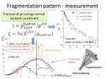 fragmentation pattern measurement