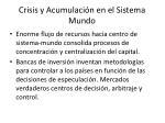 crisis y acumulaci n en el sistema mundo