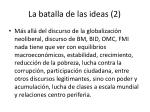la batalla de las ideas 2