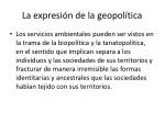 la expresi n de la geopol tica