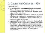 2 causas del crack de 1929