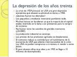 la depresi n de los a os treinta