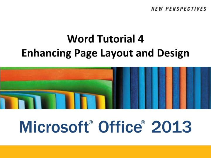 word tutorial 4 enhancing page layout and design n.