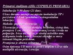 primarni stadijum sifilis syphilis primaria