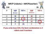 mp p robots mp p worker