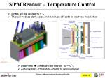 sipm readout temperature control