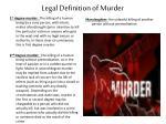 legal definition of murder