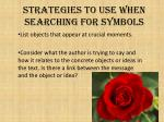 strategies to use when searching for symbols1