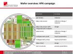 wafer overview hpk campaign