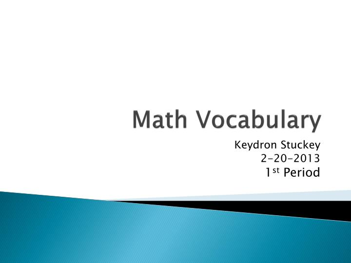 math vocabulary n.